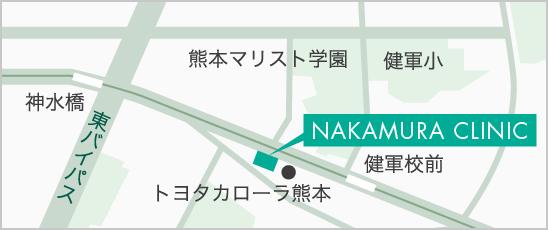 中村内科医院の地図